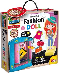 MONTESSORI - WOOD MAGNETIC Fashion DOLL