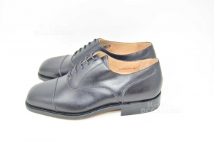 Shoes Man Black Cappelletti N° 42 Made In Italy New