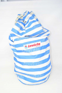 Bag Invicta Vintage Striped Light Blue White Made In Italy -