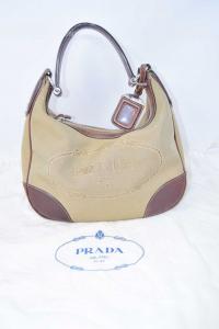 Bag Woman Prada Milan In Fabric Made In Italy Original,inserts Leather,+ Dust Bag