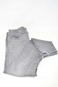 Jeans Woman Diesel Size 31 Gray Ghiaro,mod.livier Super Slim Jegging Long Waist