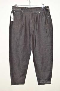 Jeans Woman Benetton Black Size 35 With Belt Coordinata New