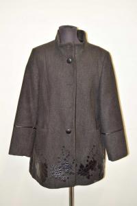 Coat Woman Deadiva Size 48 / 50 Gray Taglie Forti