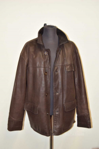Jacket Man In Real Leather Jim Smith Sizexl Brown