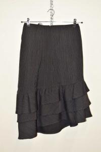 Skirt Woman Black Striped Calvin Klein Jeans Size 44