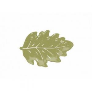 Piatto In Ceramica Verde A Forma Di Foglia Piatto Da Portata 26x18x3 Cm Casa Cucina