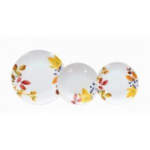 Linea Madison Bise Set Di Piatti Da Tavola 18 Pezzi Colore Bianco Con Decorazioni Floreali Casa Cucina Servizio Di Piatti