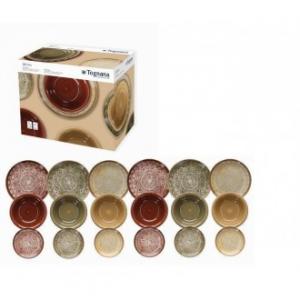 Linea Louise Inglesias Set Di Piatti Da Tavola In Porcellana 18 Pezzi Colorati Colori Assortiti Servizio Casa Cucina