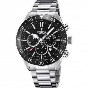 Orologio cronografo Festina Ceramic con cinturino acciaio F20575/3