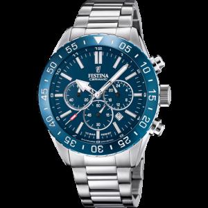 Orologio cronografo Festina Ceramic con cinturino acciaio F20575/2