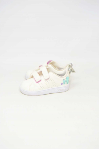 Shoes Baby Girl Adidas N° 22 With Kittens White