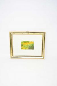 Painting Print Field Of Flowers Sunflowers 28x22 Cm