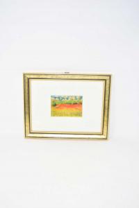 Painting Print Poppy Field 28x22 Cm