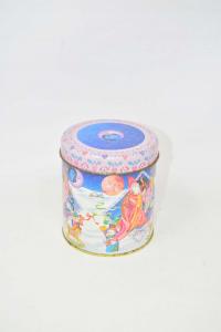Box Tin Vintage Christmas 10x11 Cm