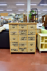 Wooden Furniture Handcrafted With 15 Drawers 110x40x96 Cm