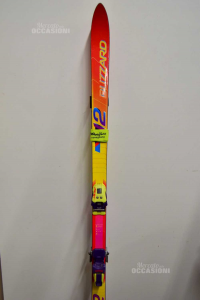 Ski Adult Blizzard Red Yellow With Attacchi Purple And Yellow 168 Cm