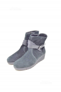 Ankle Boots Woman Black Suede Grunland N° 37