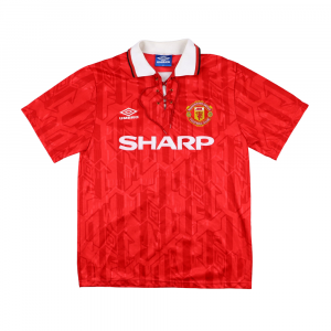 1992-94 Manchester United Home Shirt M (Top)