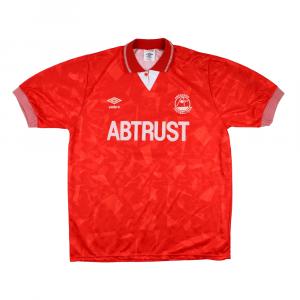 1990-92 Aberdeen Umbro Home Shirt L (Top)