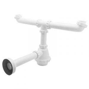SIFONE PVC 2 VIE S / PILETTA PER INOX 11/2 Diam. 40