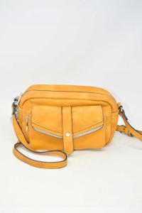 Shoulder Strap In Similpelle Color Mustard 25x18 Cm