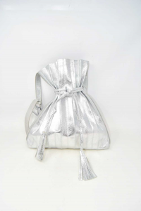 Bag Bag Color Silver With Pieghe