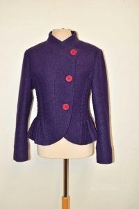 Jacket Woman Made In Italy Purple Dark In Wool