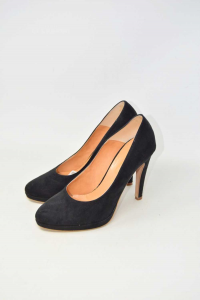 Shoes Col Heel Woman Andxhibition Black True Leather Made In Italy N° 39