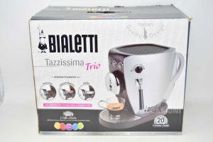 Machine Coffee Bialetti Tazzissima Trio Grinded Capsules Pods Grey And Black