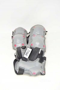 Elbow Pads Knee Pads Polsiere Crivit Black And Gray