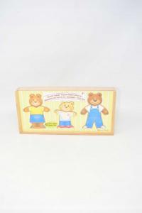 Wooden Game Modular Teddy Bears New