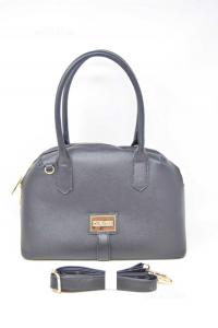 Bag Woman Cafe Noir Black With Shoulder Strap 34x23 Cm