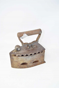 Collection Iron Iron Antique With Handle In Wood