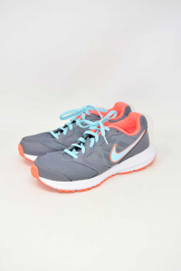 Shoes Woman Nike Grey And Orange Fluo N°.39