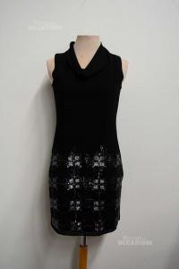 Dress Woman Intimissimi Pajettes Black Silver Size.s / M