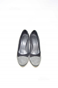 Shoes Woman Keys Suede Grey Black N°.40 S