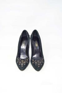 Shoes Col Heel Bibi Lou Black With Circles N° 37