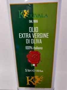 Olio Extravergine di Oliva Kouvala Ottobratica 5 lt. Azienda Agricola Elvira de Leo Bagnara Calabra (RC)