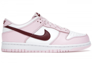 NIKE Dunk Low Pink Foam Red White GS