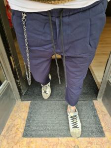 Pantalaccio blu con accessorio