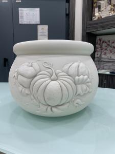 Vaso in ceramica Shan con decorazioni Zucche cod. F099.11