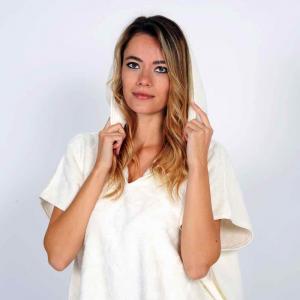 Poncho Easy Personalizzabile - Bianco Naturale