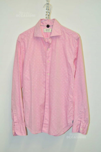 Shirt Man Boggi Size S Pink Custom Fit