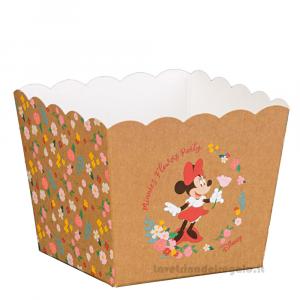 Vaso portaconfetti e dolci Minnie Flowers Disney 16.5x16.5x12 cm - Scatole battesimo bimba