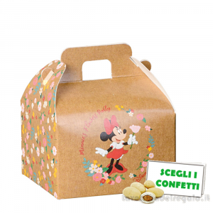 Valigetta portaconfetti Minnie Flowers Disney 7x6x4.3 cm - Scatole bimba