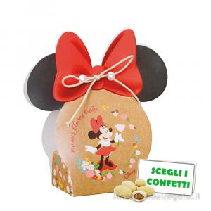 Portaconfetti Minnie Flowers Disney con orecchie 5.5x4x10.5 cm - Scatole bimba