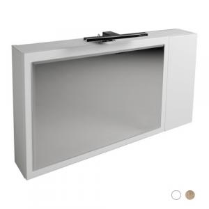 SPECCHIO CONTENITORE ORIZZONTALE                                      Bianco - LxHxP 90x15x50 cm