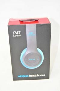 Headphones Wireless Black Blue Replica Beat Model P47 New