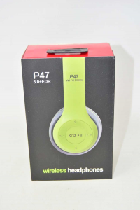 Headphones Wireless Black Green Replica Beat Model P47 New