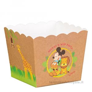 Vaso portaconfetti e dolci Mickey Savana Disney 16.5x16.5x12 cm - Scatole bimbo